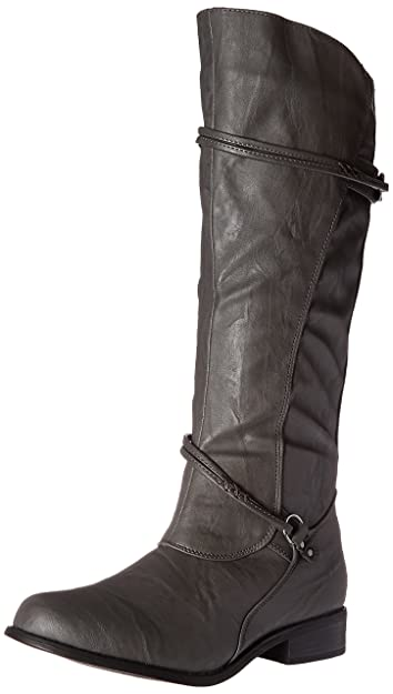 8a42cb9566f Journee Collection Womens Regular Sized and Wide-Calf Ankle-Strap Buckle  Knee-High