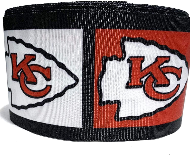7//8 pulgadas Kansas City Chiefs Cinta del Grosgrain 1 yarda