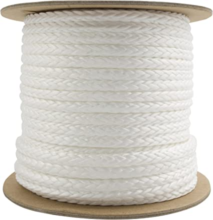 100/% UHMWPE 100Ft 5,000lb Ultra-Cord 3//16-15X Stronger Than Steel /& It Floats For Boating 100/% UHMWPE Camping /& Towing Free Shrink Tube Free Shrink Tube TOUGH-GRID NEW On Made In USA 100Ft Camping /& Towing - Red Made In USA