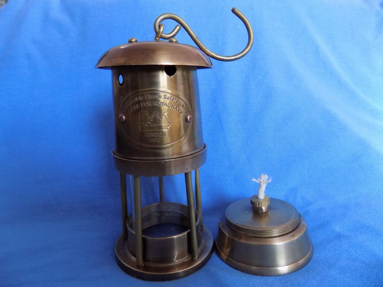 Ares India 6'' Antique Vintage Style Brass Nautical Miner Ship Lantern Oil Lamp
