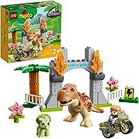 LEGO 10939 DUPLO Jurassic World T. rex en Triceratops Dinosaurus Ontsnapping Set, Dino Peuter Speelgoed, Kinderen van 2…