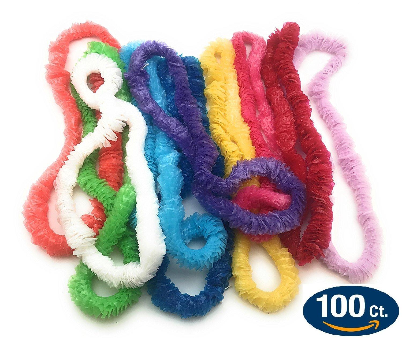 Plastic Lei Assortment (Pack of 100)