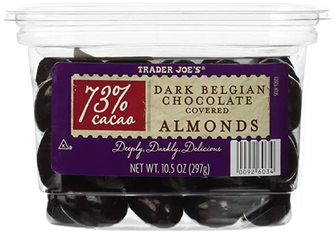 diabetes de almendras cubiertas de chocolate negro