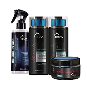 Truss Deluxe Prime Hair Treatment Bundle with Miracle Shampoo, Miracle Conditioner and Miracle Hair Mask (4 items)