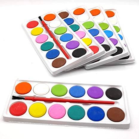 Infinxt Mini Color Plate For Kids With Brush Birthday Return Gift Pack Of 12 Amazonin Office Products