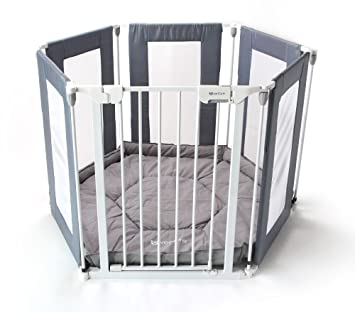 NEW Venture ALL STARS Fabric Baby Playpen 6 Panels 3in1 Use