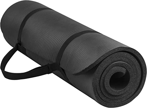 Anti-Tear Exercise Mat with Carrying Strap
