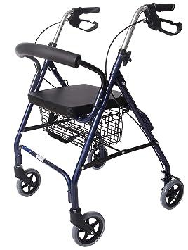CYMAM Tanes - Andador para Ancianos, Azul, 62 x 61 x 79-91 cm ...
