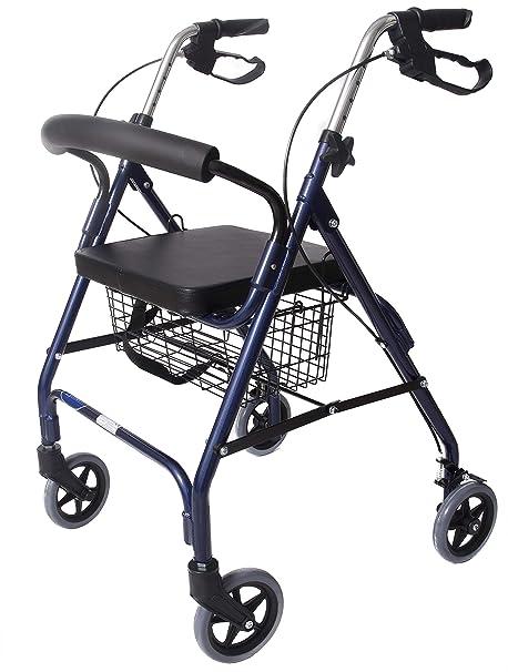 CYMAM Tanes - Andador para Ancianos, Azul, 62 x 61 x 79-91 ...