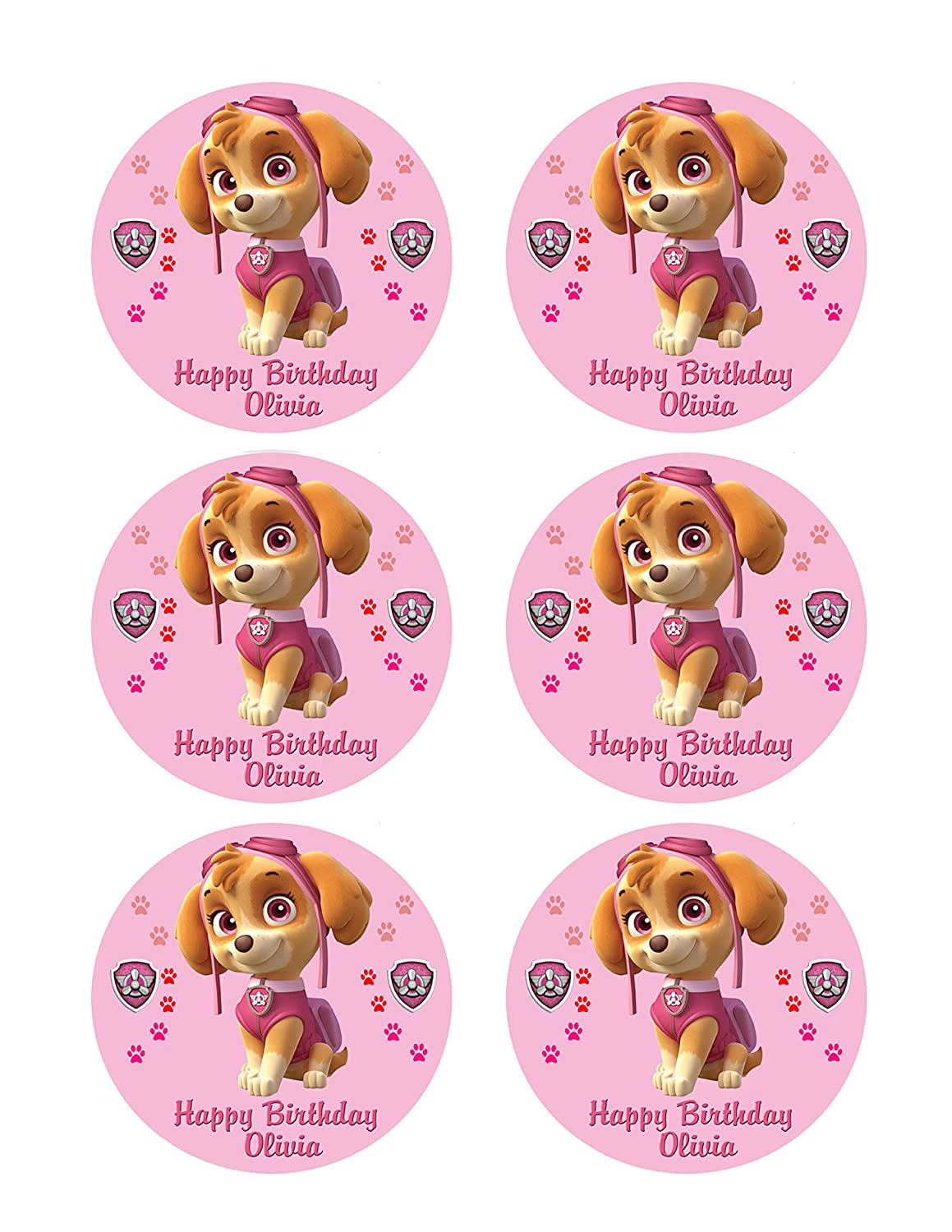 Other Baking Accessories 24 X Gorgeous Purple Happy Birthday Edible Cupcake Toppers Thick Rice Paper 1404