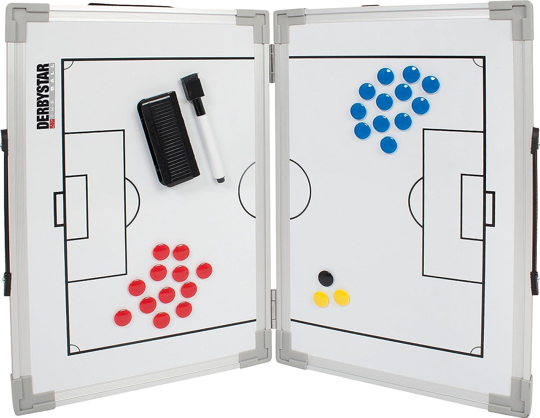 Derbystar Pieghevole Lavagna Tattica da Calcio, Standard, Colore Bianco 4113000000