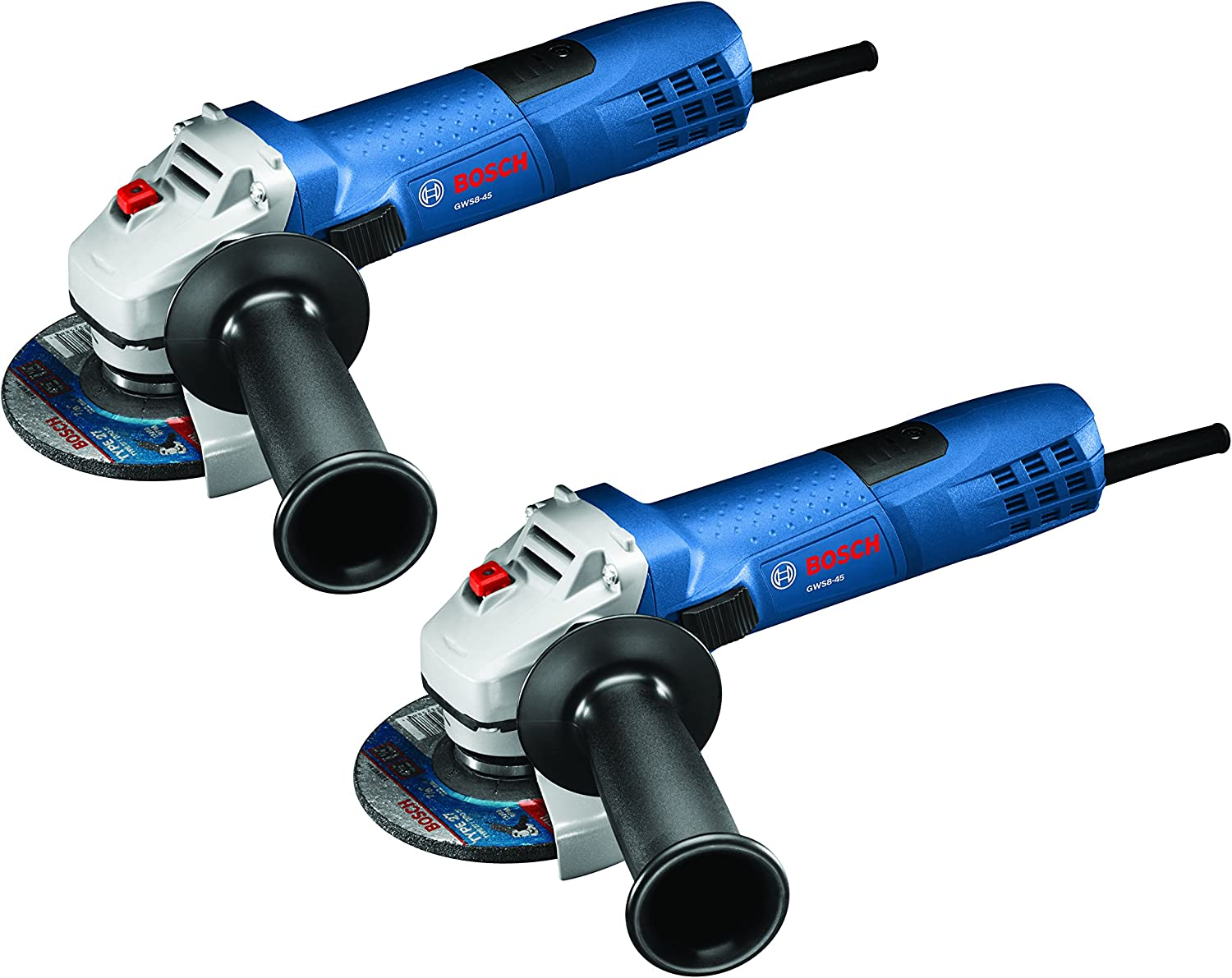 Bosch GWS8-45-2P 4-1 2 Small Angle Grinder 2 pack , Blue
