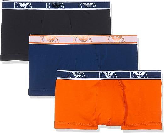 TALLA L. Emporio Armani Underwear Boxer Briefs (Pack de 3) para Hombre