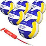 GoSports Indoor Competition Volleyball - Made from Synthetic Leather - Includes Ball Pump - Regulation Size and Weight (Choos