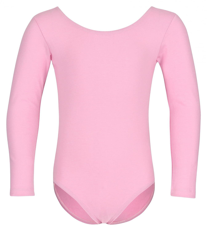 Lilly, il body da danza classica per bambini di tanzmuster - manica lunga - fucsia - 92/98 3-4 anni Lilly