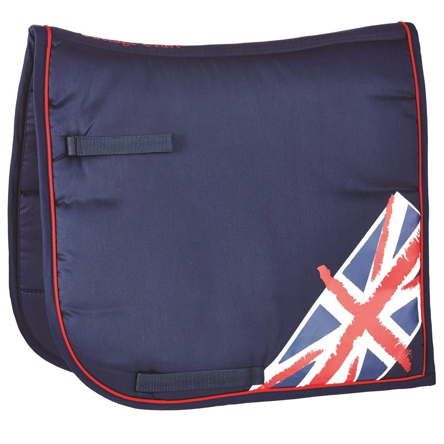 bluee Red PonyCottage Craft Union Jack Saddle Pad Numnah Cloth Horse Riding Tack