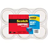 "Scotch Packing Tape Heavy Duty Shipping Tape, 1.88"" x 50m, 6 Rolls"
