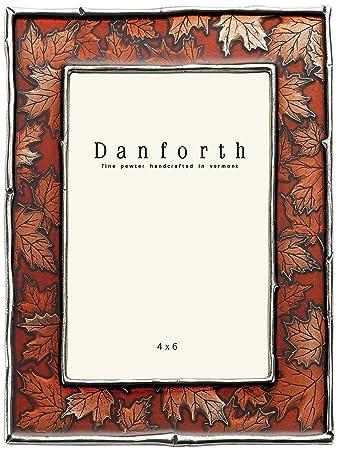 Amazon.com - Danforth - Maple Leaf 4x6 Pewter Picture Frame (Autumn) -