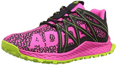 adidas Originals Girls\u0027 Vigor Bounce, Shock Pink/Core Black/Slime, 4 M US  Big Kid