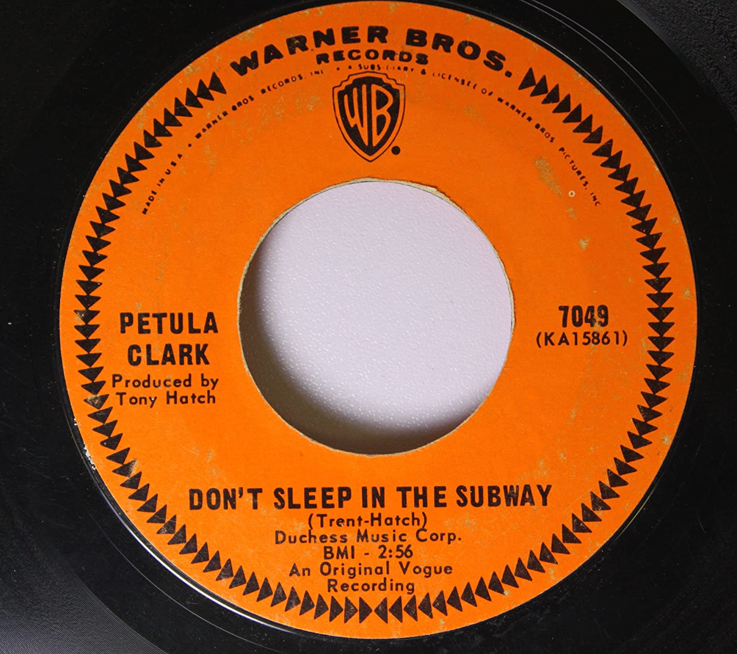 PETULA CLARK 45 RPM Don't Sleep In The Subway / Here Comes The Morning