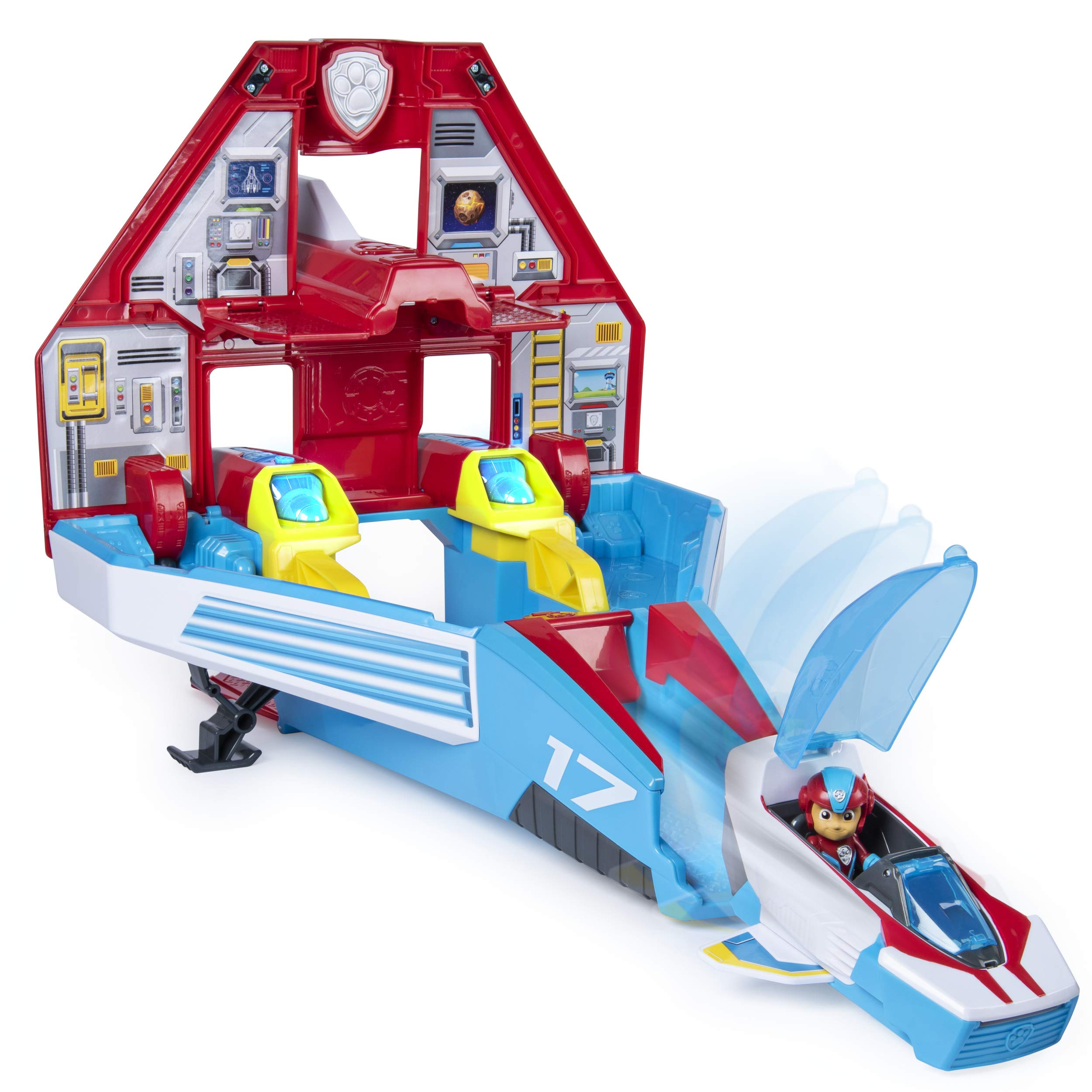 Paw Patrol, Super Paws, 2-in-1 Transforming Mighty Pups Jet Command Center with Lights and Sounds by Paw Patrol