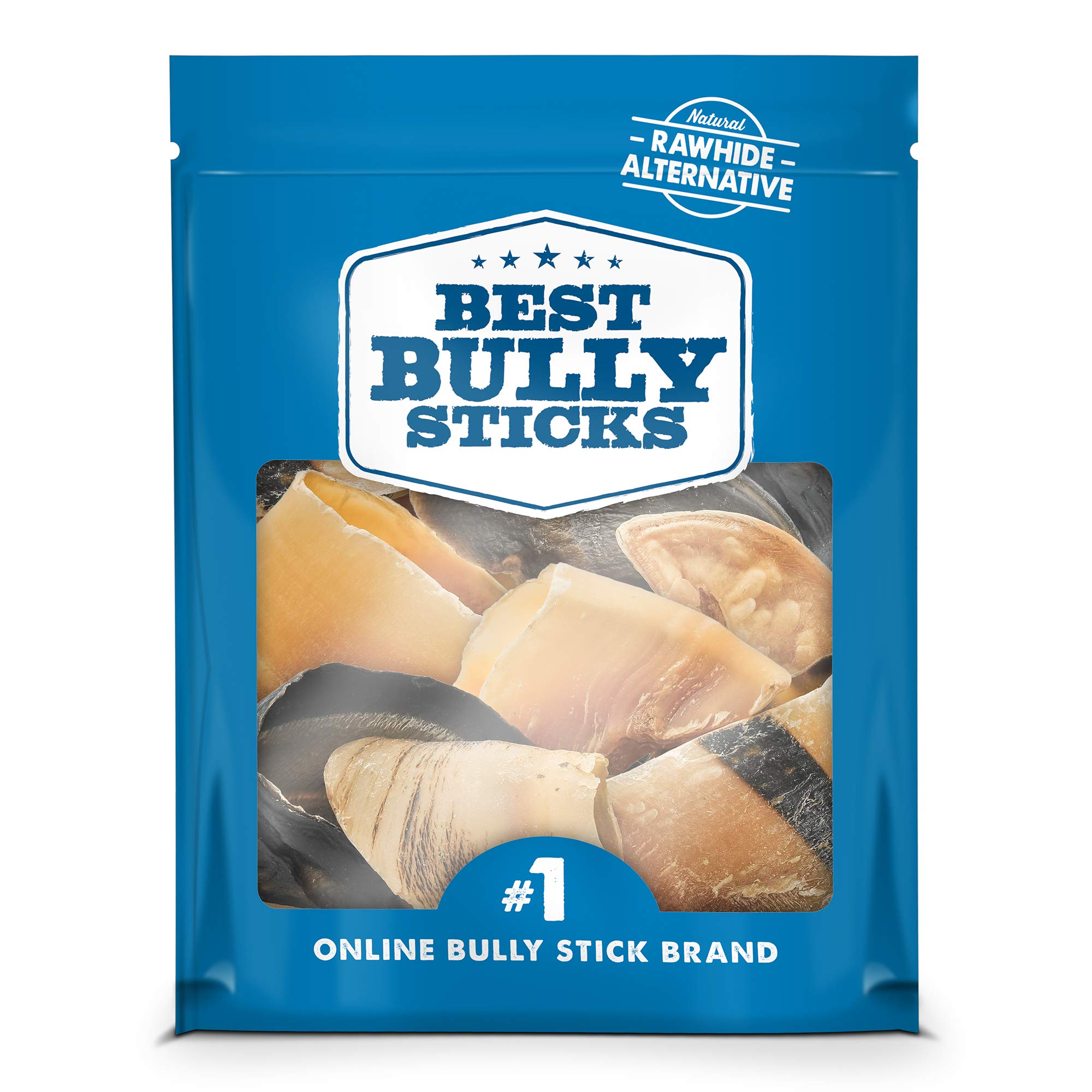 Best Bully Sticks 100% Natural Cow Hooves Dog Chews (25 Count Value Pack) - Free-Range & Grass-Fed Cattle - Long-Lasting Natural Alternative to Rawhide by Best Bully Sticks