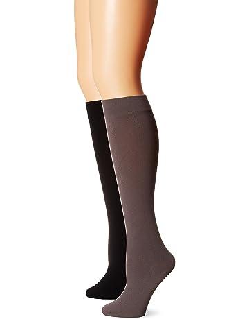 50aa0a10d452c Muk Luks Women's Fleece Lined 2-pair Pack Knee High Socks