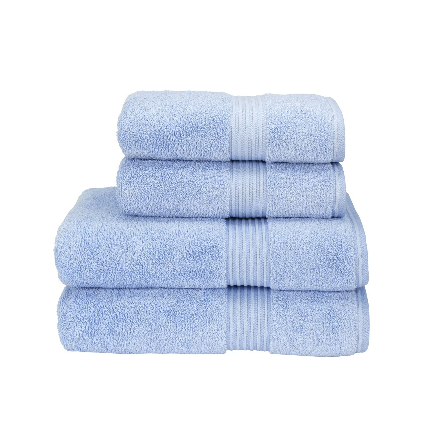 Christy Supreme Hygro Bathroom Towels 650 gsm 100% Cotton Exceptionally absorbent (Face Cloth 33cm x 33cm, Sky (Blue))