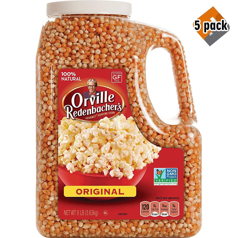 Orville Redenbacher's Gourmet Popcorn Kernels, Original Yellow, 8 lb - 5 Pack by Orville Redenbacher's