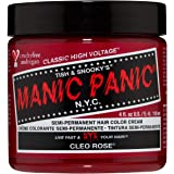 Manic Panic Cleo Rose Hair Dye - Classic High Voltage - Semi-Permanent Hair Color - Bright, Warm Magenta Pink Shade with…