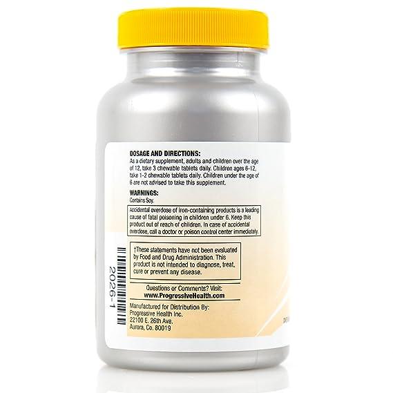 Progressive Health Listol: Píldoras de enfoque para los niños, adolescentes y adultos: Amazon.es: Salud y cuidado personal