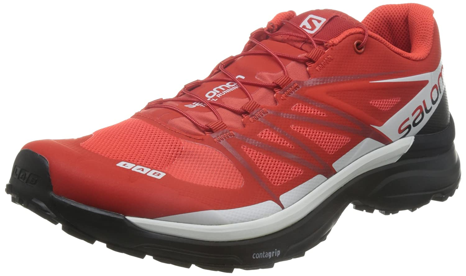 Salomon L39121500, Zapatillas de Senderismo Unisex Adulto 44 2/3 EU|Rojo (Racing Red / Black / White)