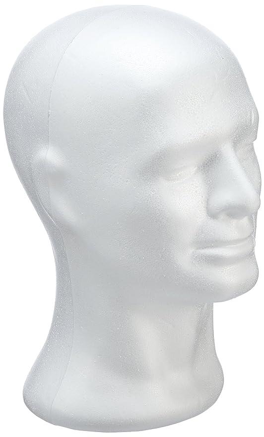 RAYHER Styropor-Kopf männlich, Ständer für Perücken, Kopfhörer ...