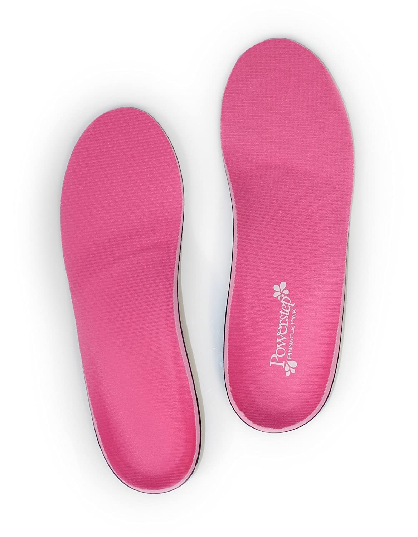 95370ad4f7 Amazon.com: Powerstep Pinnacle Pink Full Length Orthotic Shoe Insoles - Maximum  Cushioning, Full Support: Shoes
