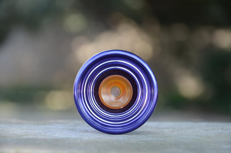 Purple MAGICYOYO Responsive Aluminum Metal Yoyo K7 for Beginners with Glove+3 Strings