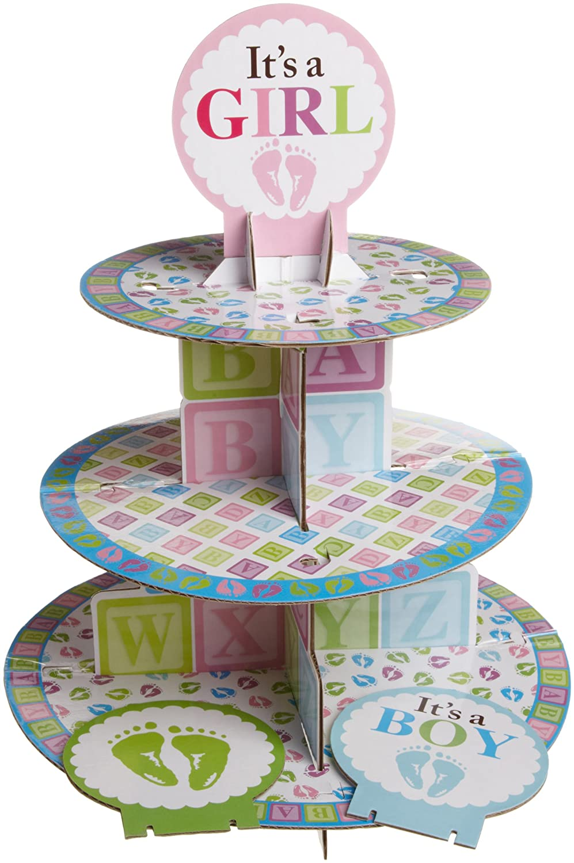 Wilton Baby Shower Cakes Part - 42: Amazon.com | Wilton 1004-1492 Baby Feet Cupcake Stand: Cake Stands: Cupcake  Stands