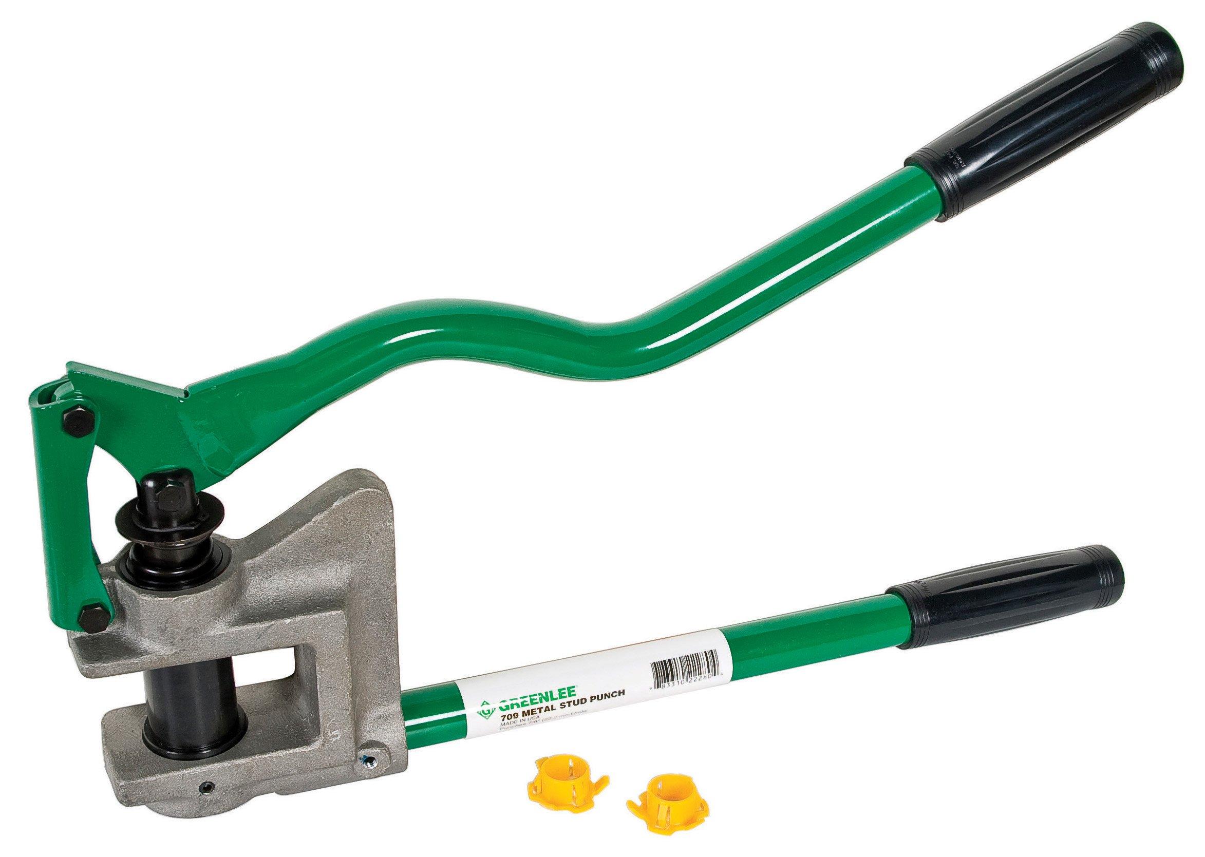 Greenlee 710 Metal Stud Punch, 1-11/32-Inch Diameter by Greenlee