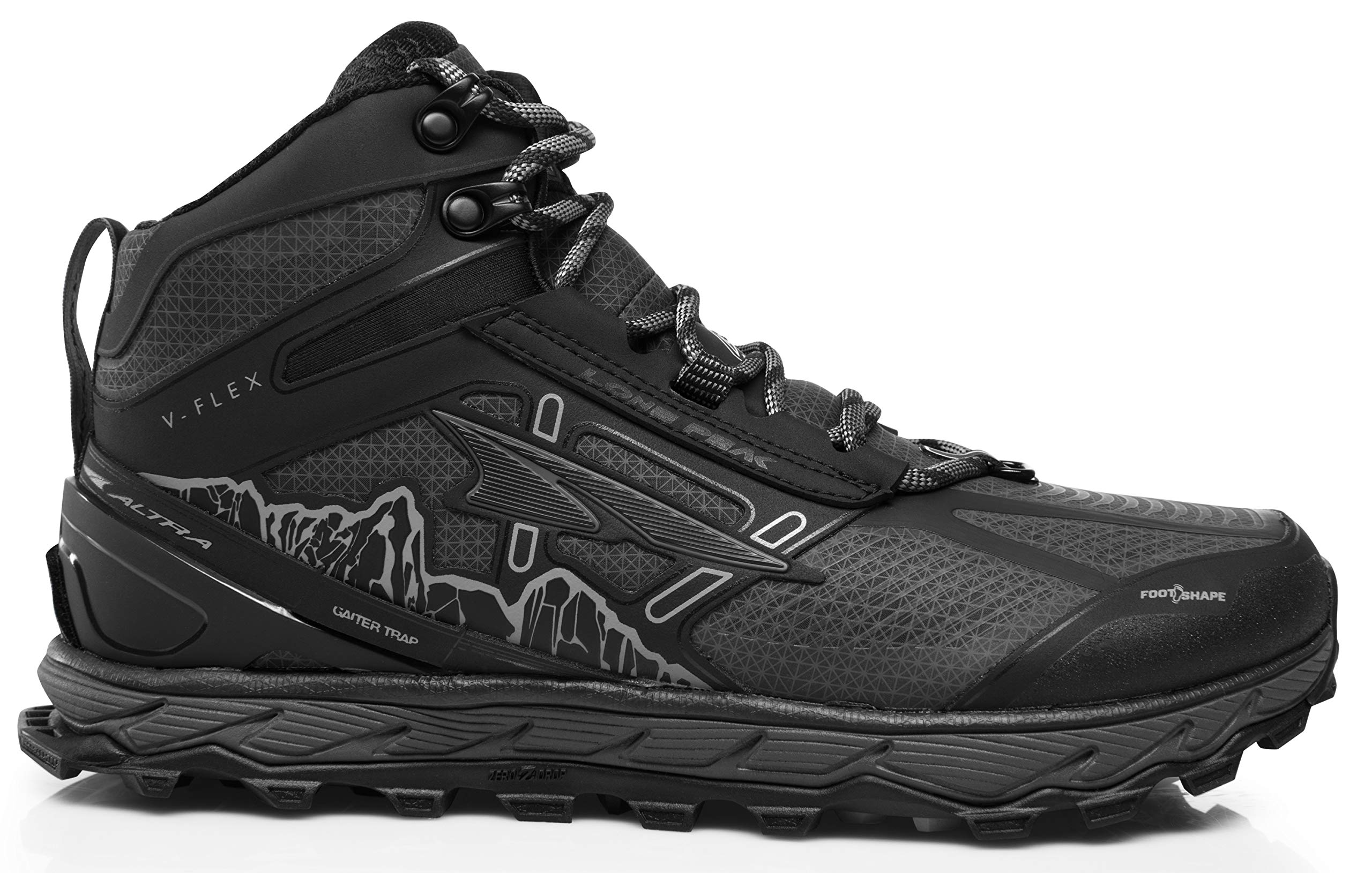 Altra Men's Lone Peak 4 Mid RSM Waterproof Trail Running Shoe, Black - 12 D(M) US by Altra
