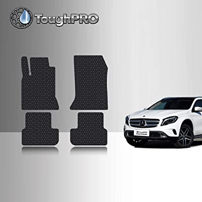 TOUGHPRO Floor Mat Accessories Set (Front Row + 2nd Row) Compatible with Mercedes-Benz GLA180 GLA200 GLA250 GLA45 AMG - (Made in USA) - Black Rubber - 2014, 2015, 2016, 2020, 2020, 2020, 2020: Automotive