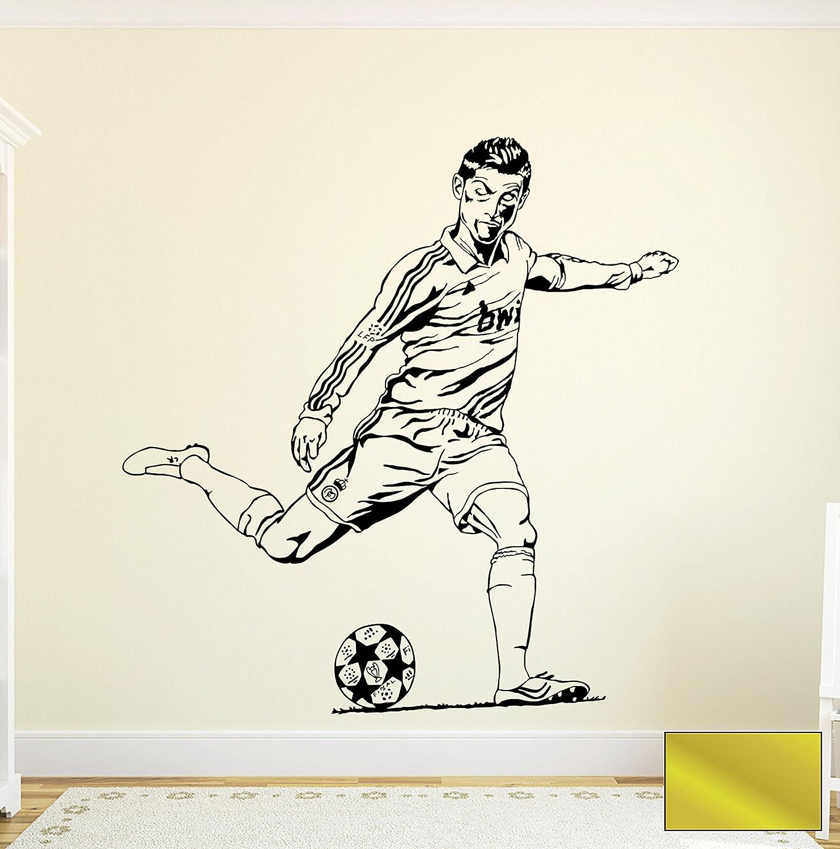 Genial Wandtattoo Basketball Galerie Von Wall Tattoo Sticker Football Football Player Stürmer