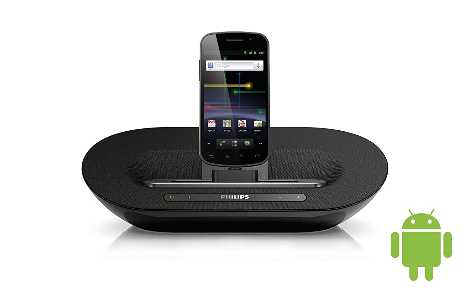 Philips AS351/12 - Altavoz Bluetooth con base de conexión para dispositivos Android (10 W RMS)