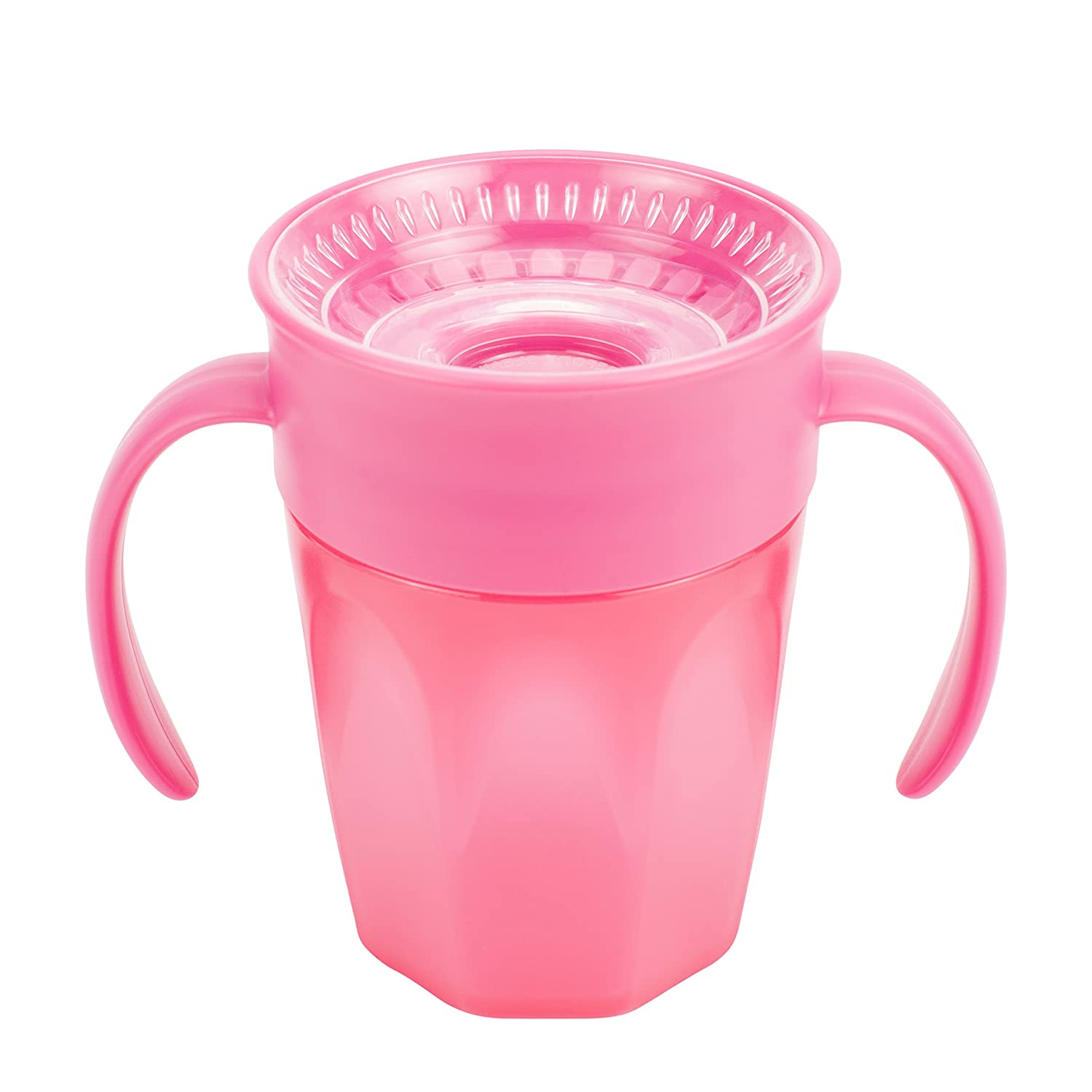 Dr. Brown's Cheers 360 Spoutless Training Cup, 6m+, 7 Ounce, Pink Dr. Brown' s TC71002-P6