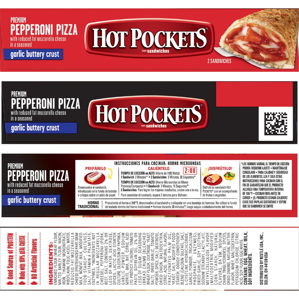 HOT POCKETS Frozen Sandwiches Pepperoni Pizza 2-Pack: Amazon.com: Grocery & Gourmet Food