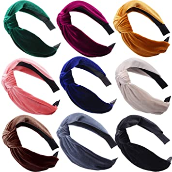 Women/'s Tie Headband Hairband Wide Twist Knot Hair Band Hoop Accessories Party