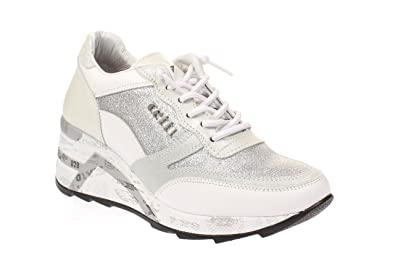 553cac1a5292d4 Cetti C1115 SRA - Damen Schuhe Plateau Sneaker - Space-Blanco  Amazon.de   Schuhe   Handtaschen
