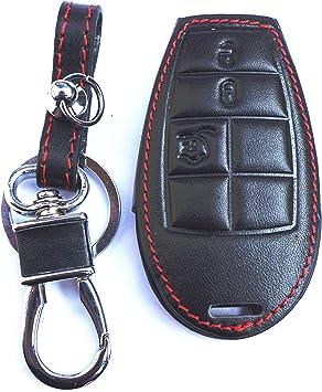 Dodge Grand Caravan Black Leather Auto Key Chain /& Key Ring
