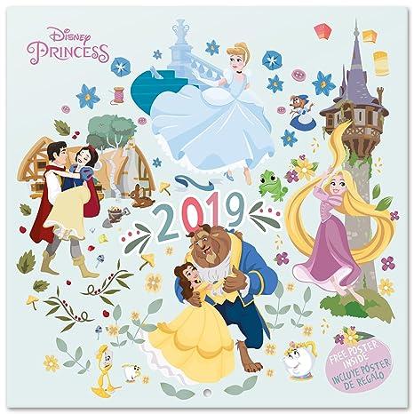 Calendario 2019 Disney Para Imprimir.Grupo Erik Editores Cp19025 Calendario 2019 Disney Princess 30 X 30 Cm
