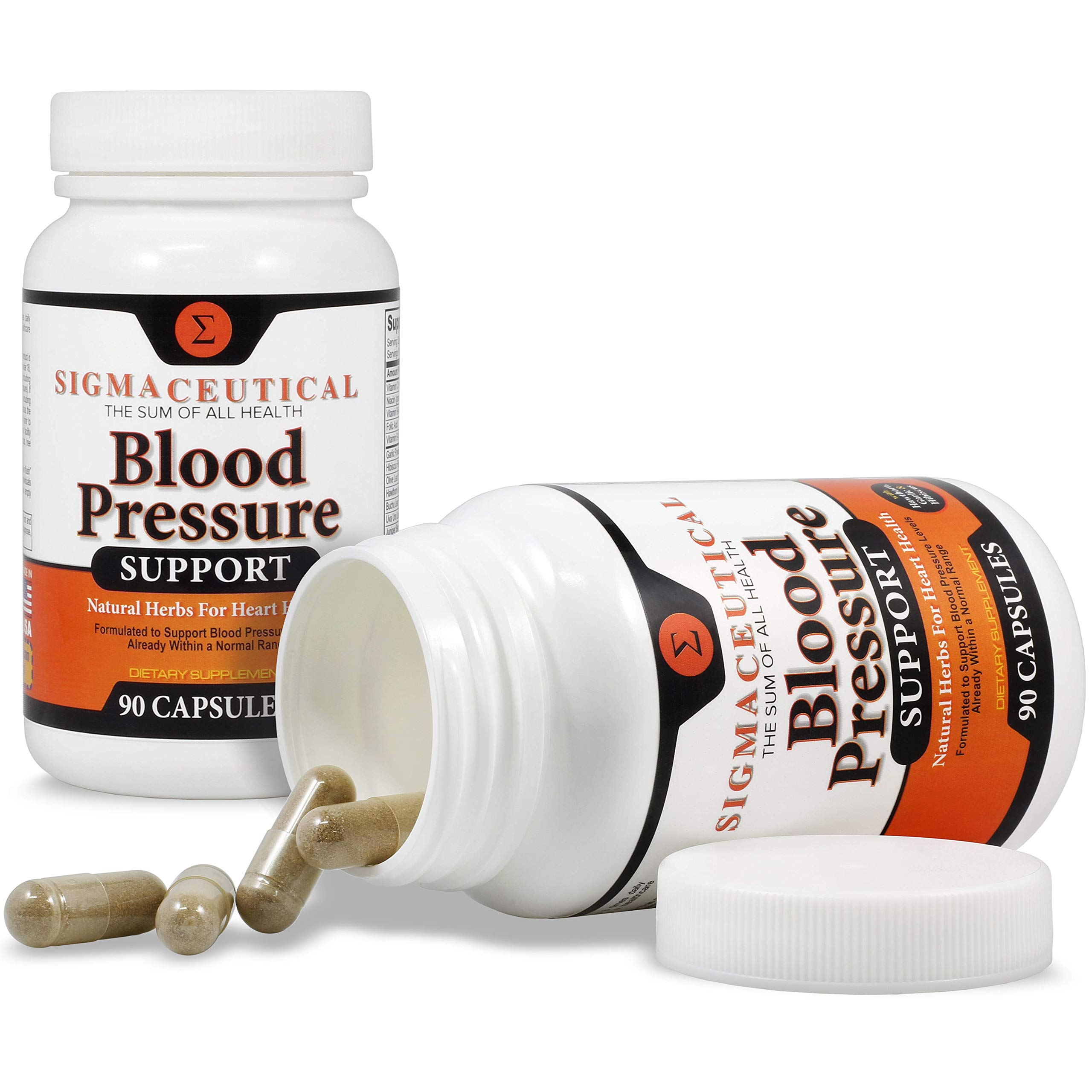 5 Pack of Premium Blood Pressure Support Formula - High Blood Pressure Supplement w/Vitamins, Hawthorn Extract, Olive Leaf, Garlic Extract & Hibiscus Supplement - 90 Capsules Each by Sigmaceutical (Image #5)