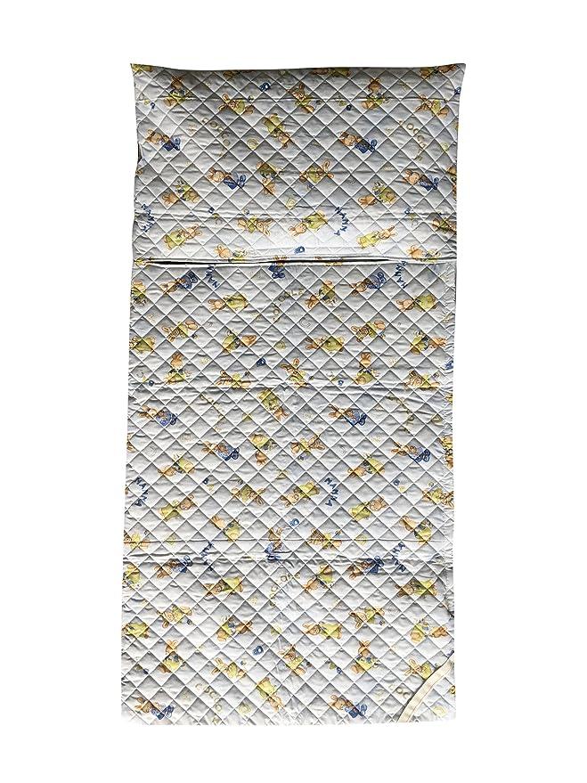 Panini Tessuti - Juego de guardería, saco de dormir y bolsa guardería, para niños de 2 a 6 años Coniglietti Coccole Azzurro: Amazon.es: Bebé