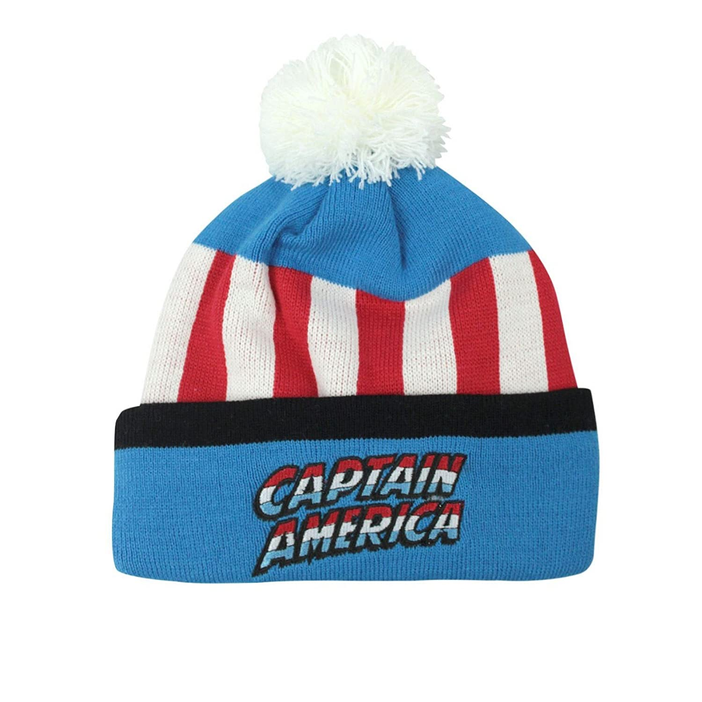 Captain america Childrens/Kids Retro Original Bobble Hat UTNS4313_1